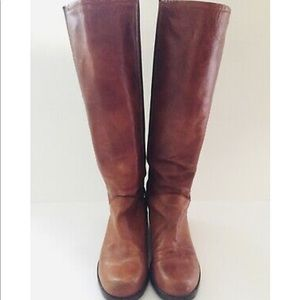 Stuart weitzman brown leather riding boots size 10